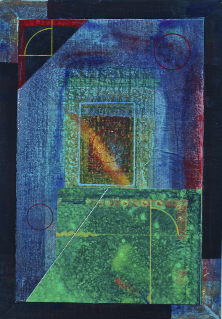 "Paul Garland,  LOH , Acrylic on board collage, 13""x9"" $600"