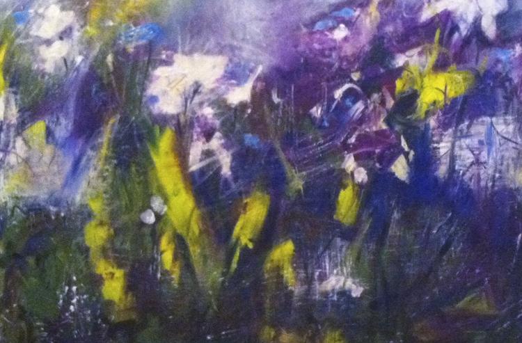 "Maureen McMahon,  Wild Flower  ,  Acrylic, 24""x 30""$1900"