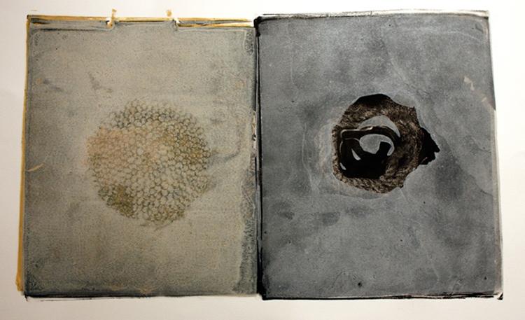 "Karen Sardisco,  Prologue, Ink on paper, 14""x22"", $450"