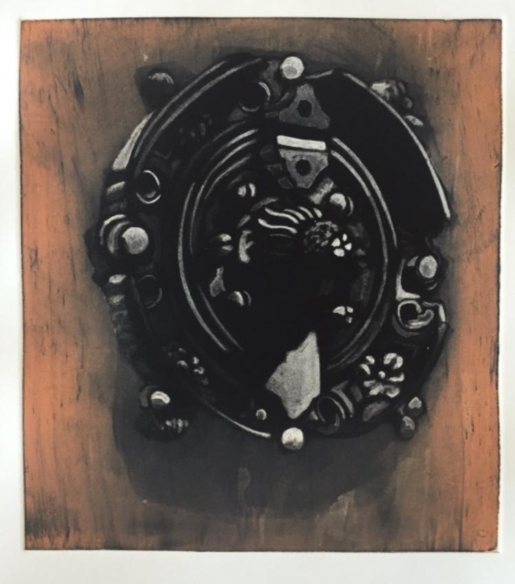 """Kathrine Baca, """"di Porta in Porta"""" Intaglio-type, Mezzo-type 3  $300."""