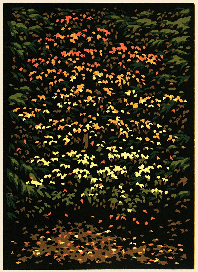 "Laura Wilder, ""October Lace"" signed limited edition Block print $295."