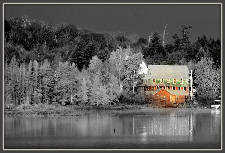 "Patrick Quigley, ""Ice House - Racquette Lake"",  Photograph, 8""x10""  $175"