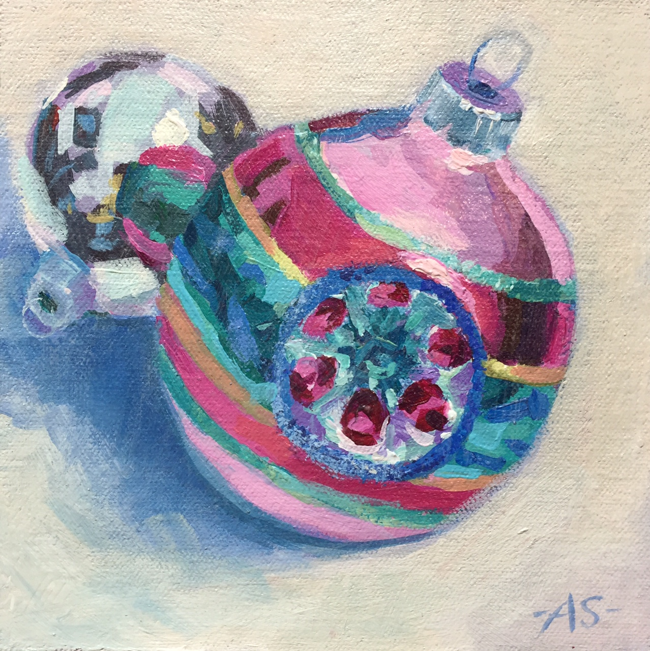 "Amy Stummer, Acrylic on board, 6"" x 6""   $65 SOLD"