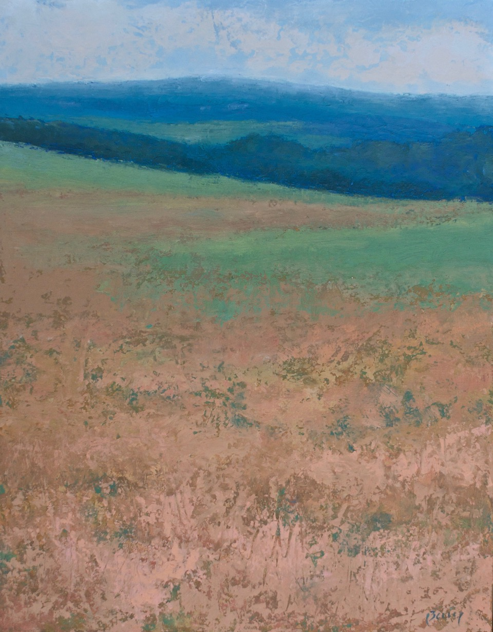 "Kathryn Bevier, ""Looking Toward Canandaigua"",     Oil and Wax, $425"