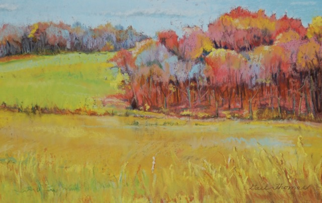"Gail Thomas, ""Early November-Mill Road in Bristol""    Pastel, $250"