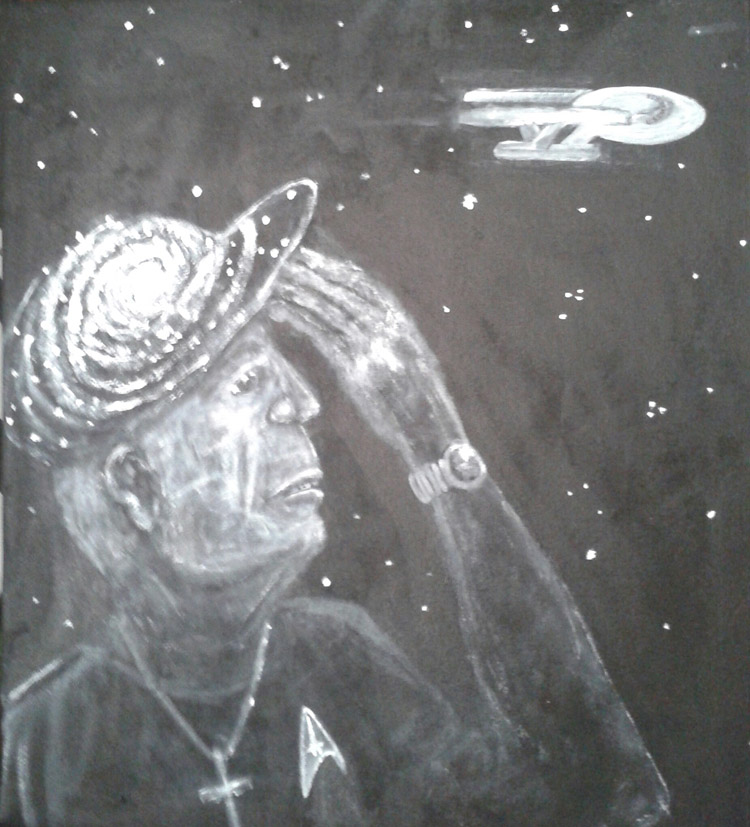 "Will Page, ""Live Long and Prosper"",                           Acrylic,  $1100"