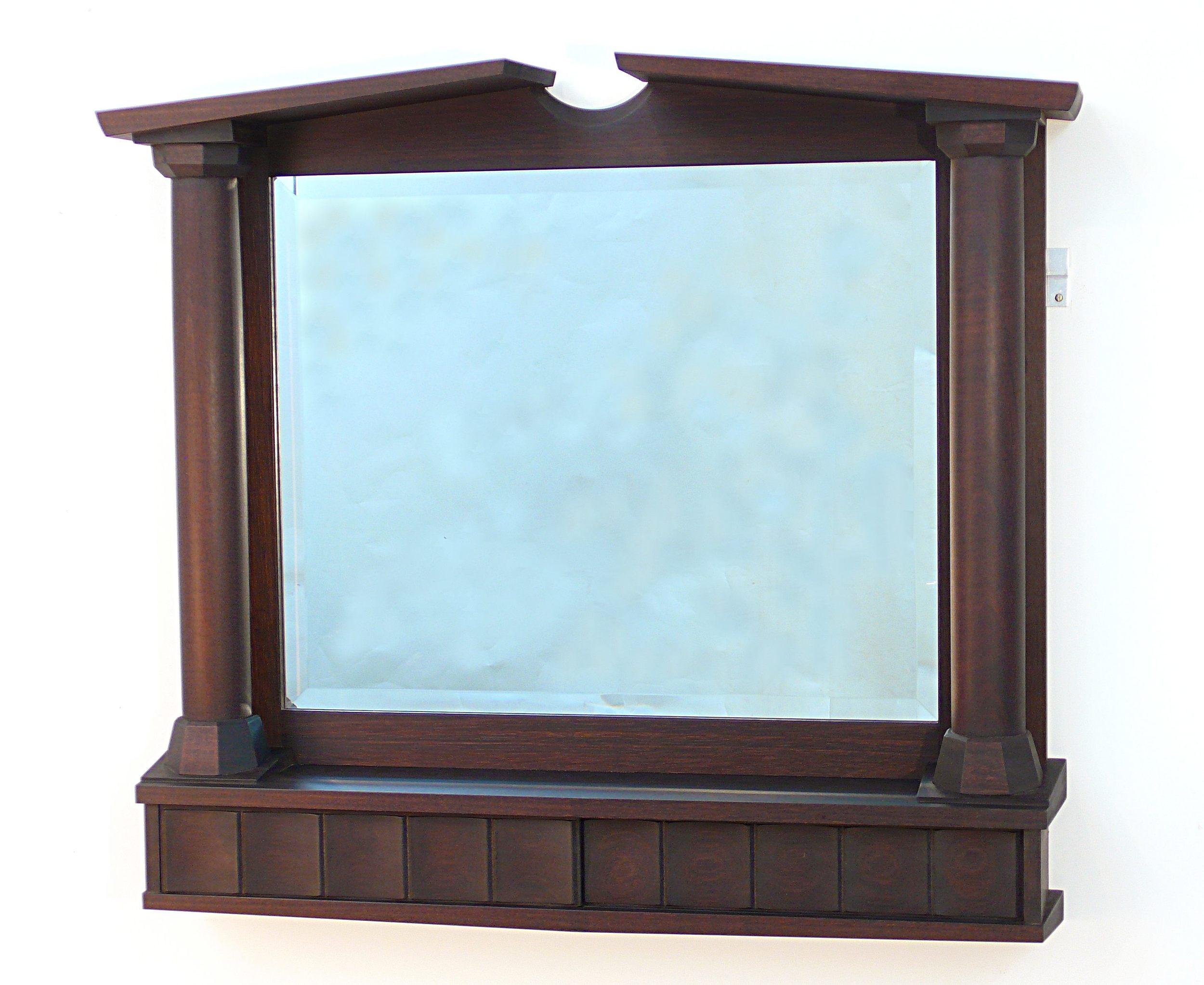 """R. Thomas Tedrow, """"Ebonized Mahoghany Mirror"""", Honduran Mahogany, 27""""x 30"""" $3250"""