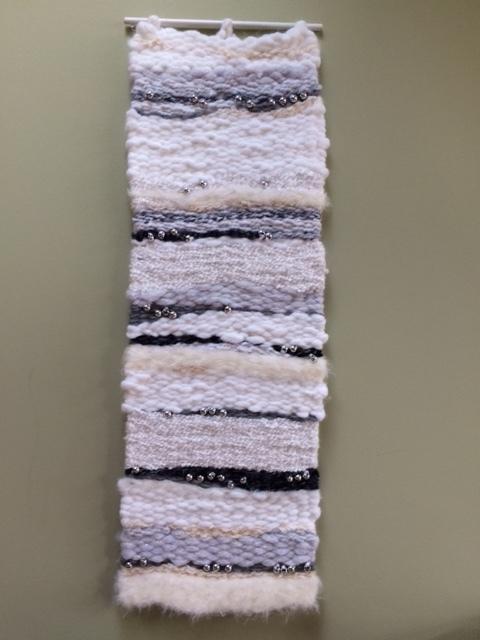 "Donna E. Gustina, ""MOD"" Peg Loom Weaving, $150"