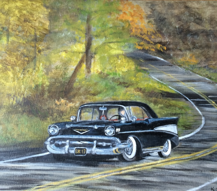 Kathy Yatteau,  Cruisin' '57 Chevy, Acrylic $275