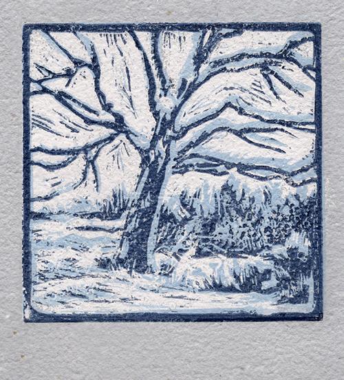Winter Tree by Victoria Brzustowicz