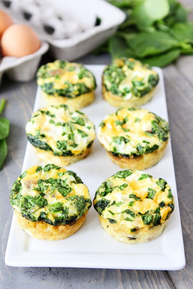 Egg Muffins with Sausage, Spinach and Cheese