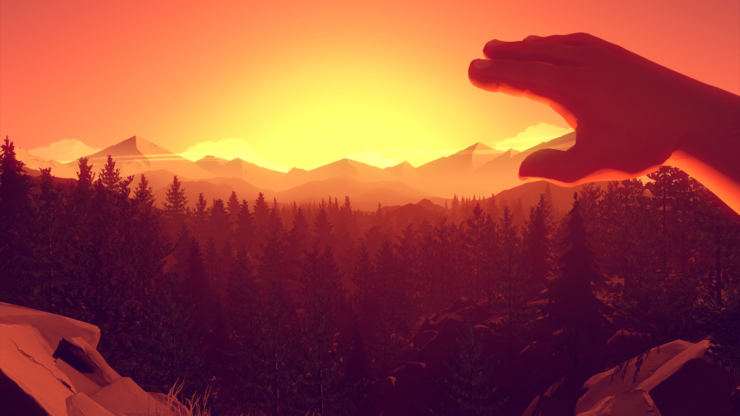 Screenshot from Firewatch