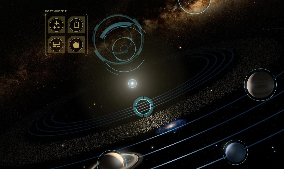 "Explore the solar system using NASA's interactive program ""Solar System 101"""