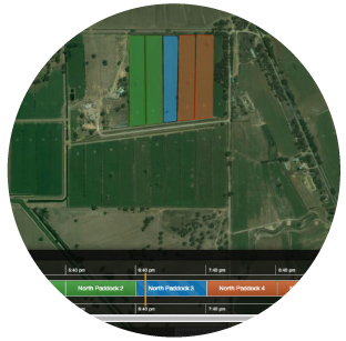 It doesn't matter what you want to irrigate or how you deliver water, our  Irrigation Scheduling application  has it covered. Carefully plan and control irrigation schedules for tree crops, vines, vegetables or pasture. Control pumps, valves, pivots, sprinklers and more. All from the convenience of our easy to use, map based interface.