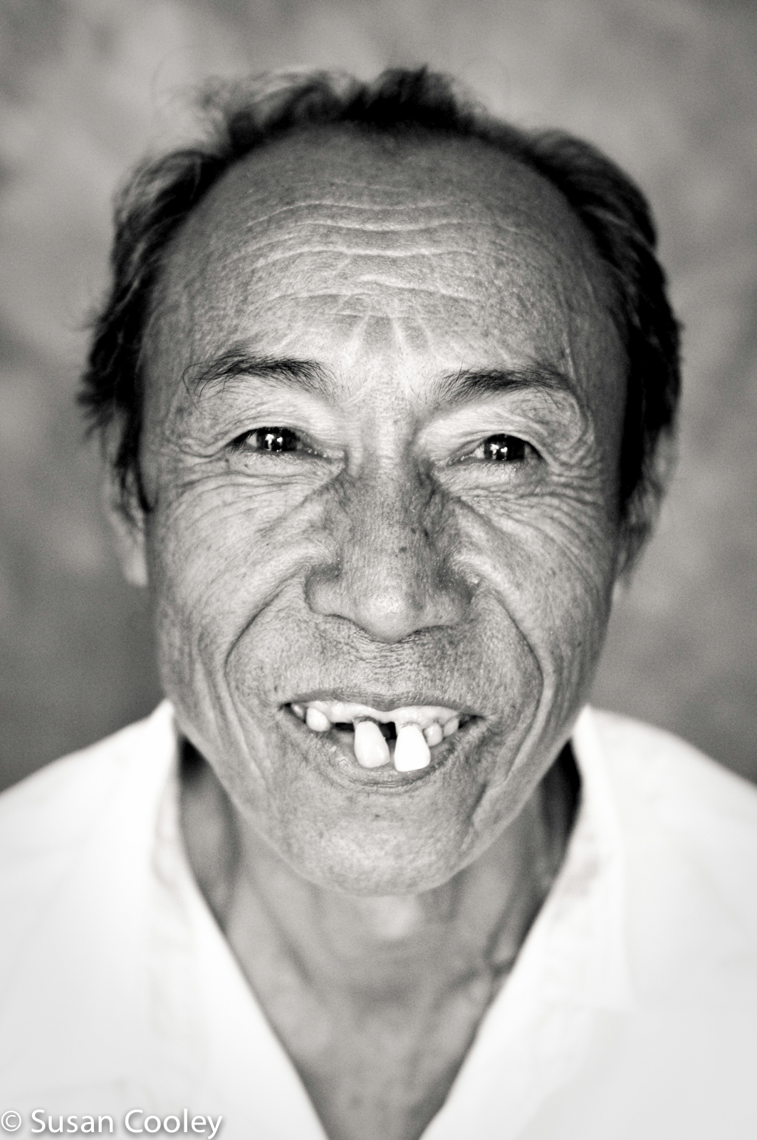 Big smile, Burmese refugee.