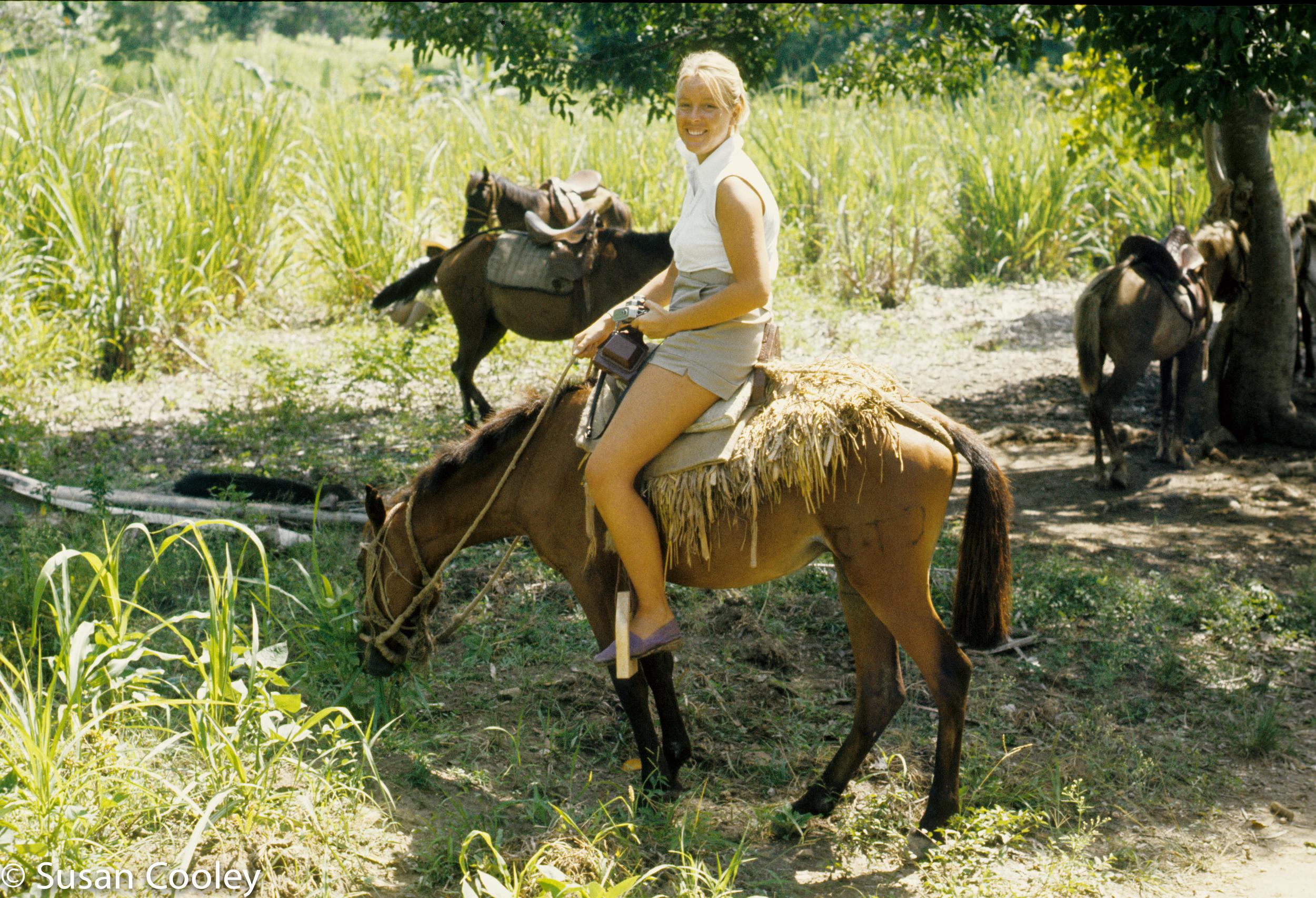 Susan en route to feeding station, Haiti, 1974.