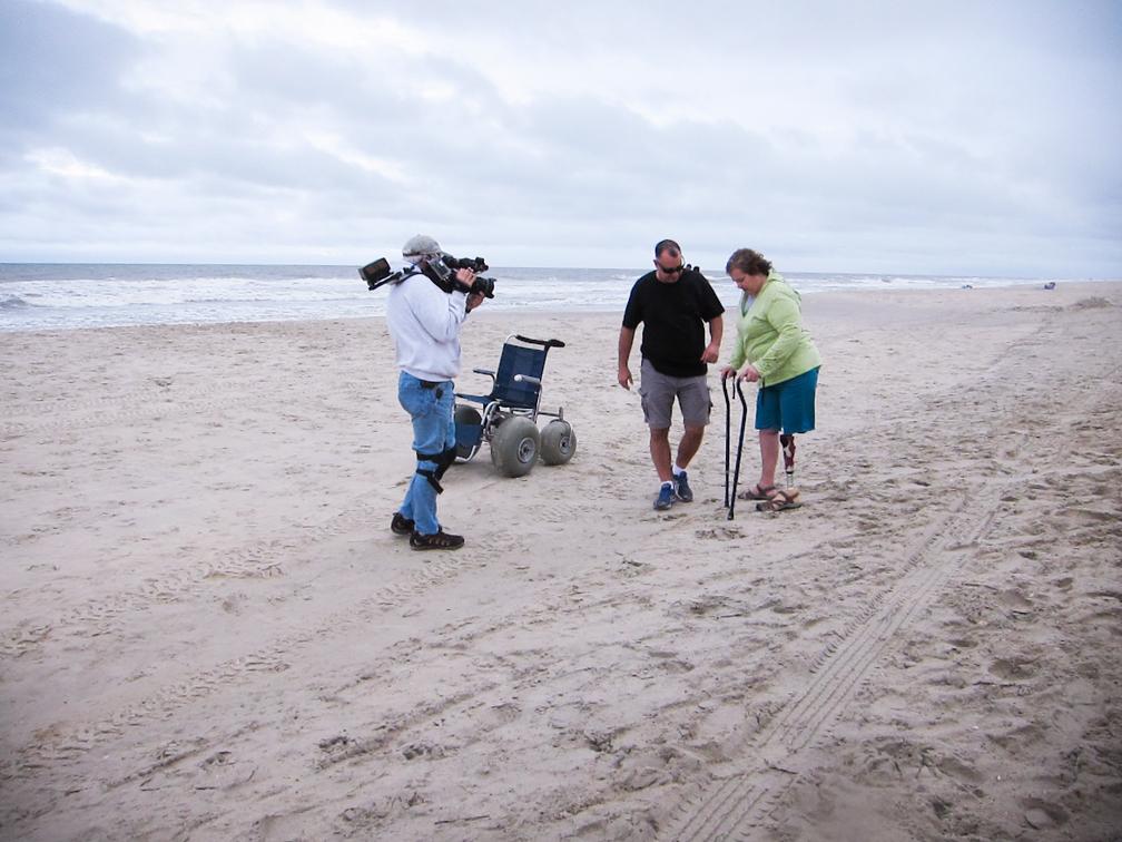 Shooting on the Beach