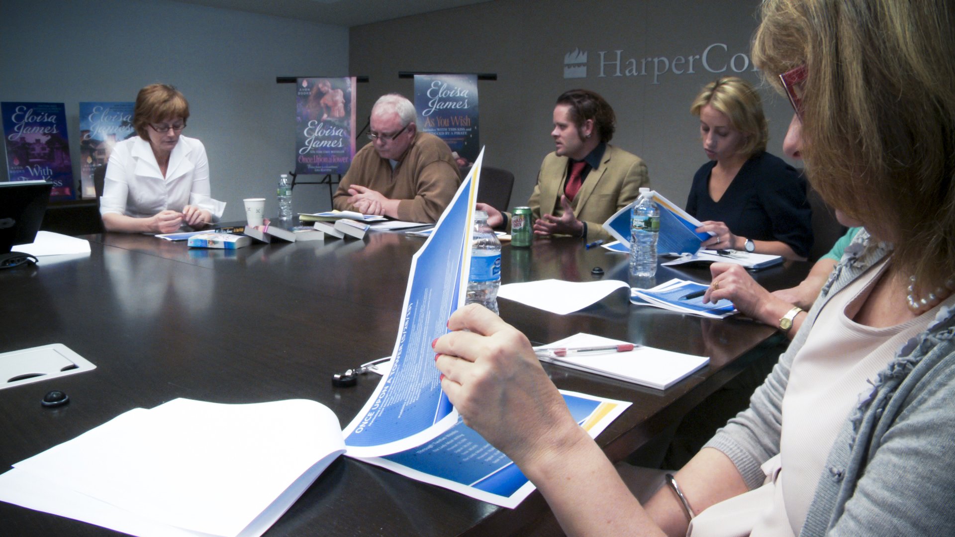 A marketing meeting at HarperCollins