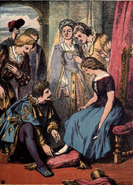 A depiction of Cinderella, a classic fairy story