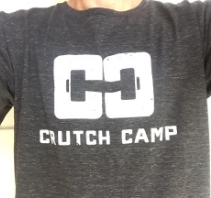 Purchase T-Shirts  Here     Also available for purchase at Crutch Camp classes M-W-F