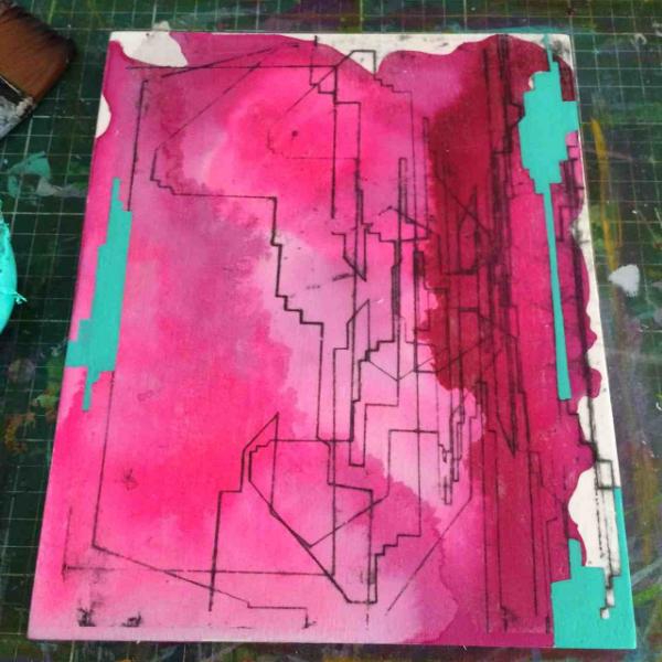 Dynamic work by Merryn Trevethan.