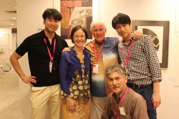 With Mr. Norman H. Tolman and staff from The Tolman Collection Gallery Tokyo. A nice Japanese connection! お世話になっております.