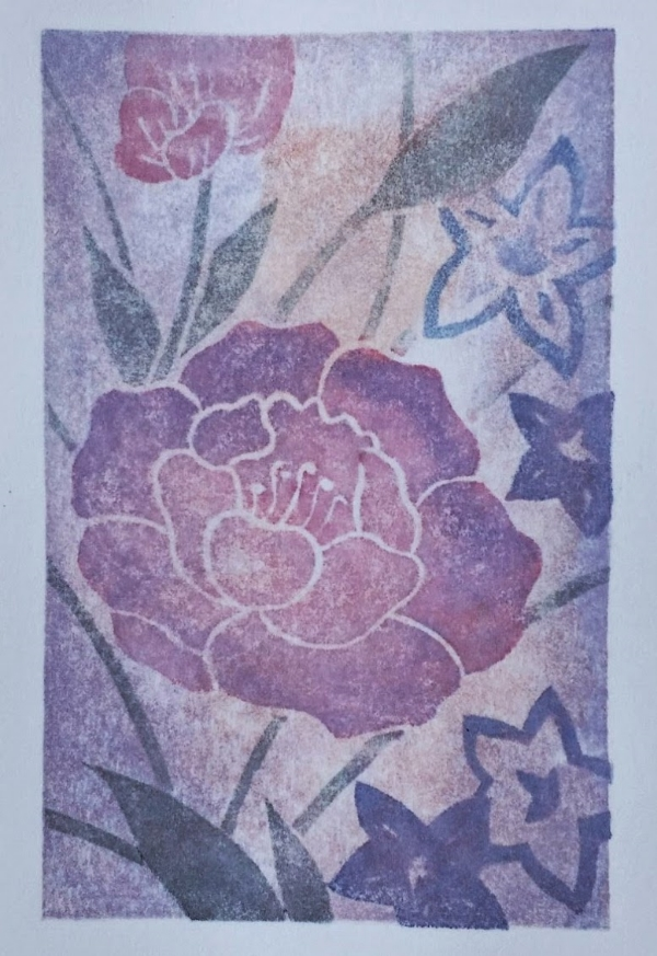 From the  Peranakan Peony  limited edition of 50series. All prints in this series are unique - a variable edition!