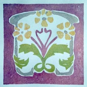 Four-colour print - Victorian inspired art nouveau print