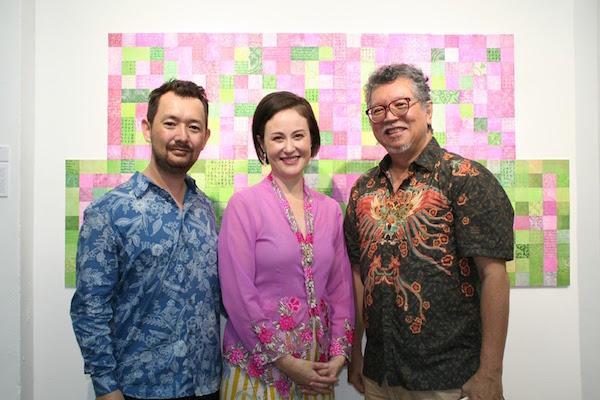 My husband and tool-sharpening expert, myself and Mr. Richard Tan