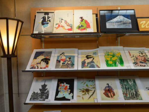 Handprinted reproductions of famous Japanese woodblock prints.