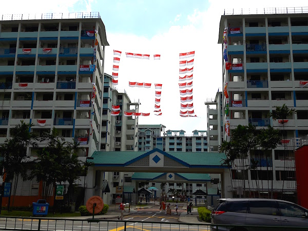 Unique use of flags in Toa Payoh!