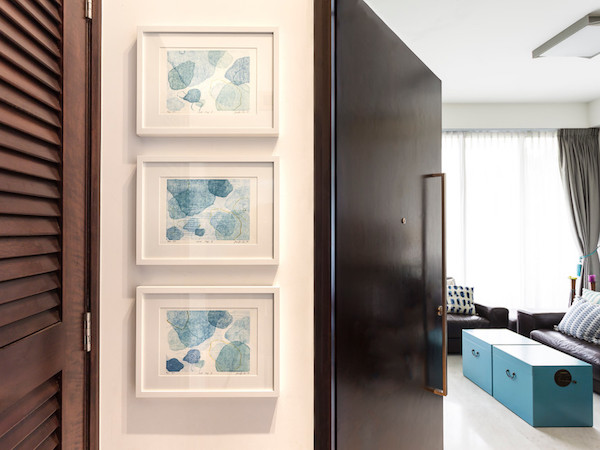 A trio of prints at a client's home.