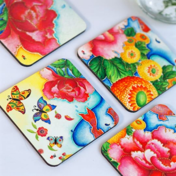 Gorgeous coasters by Milc by Mishell!