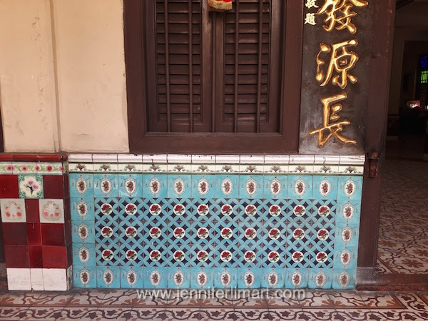 I counted over 13 different types of decorative tiles used throughout the building.
