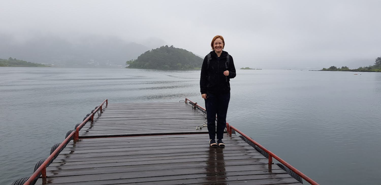 At Lake Kawaguchiko near Mt. Fuji.
