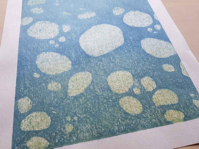 Learning deliberate 'gomazuri' rough printing