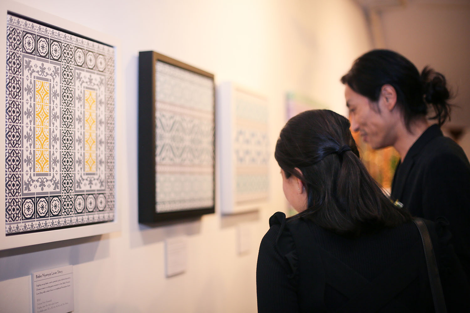 Visitors checking out the tale behind    Baba Nyonya Love Story