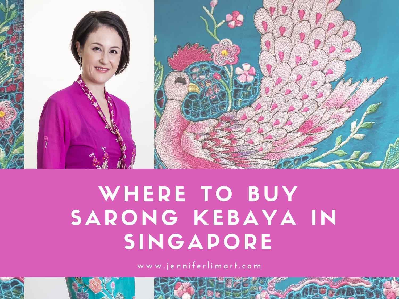 Discover where to buy Nyonya sarong kebaya in Singapore worn by Peranakan women.