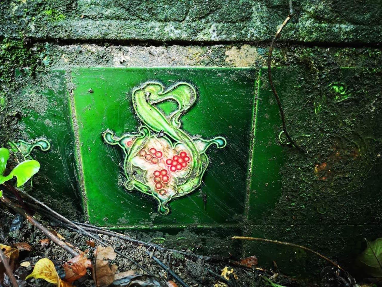 Rare Art Nouveau style tile