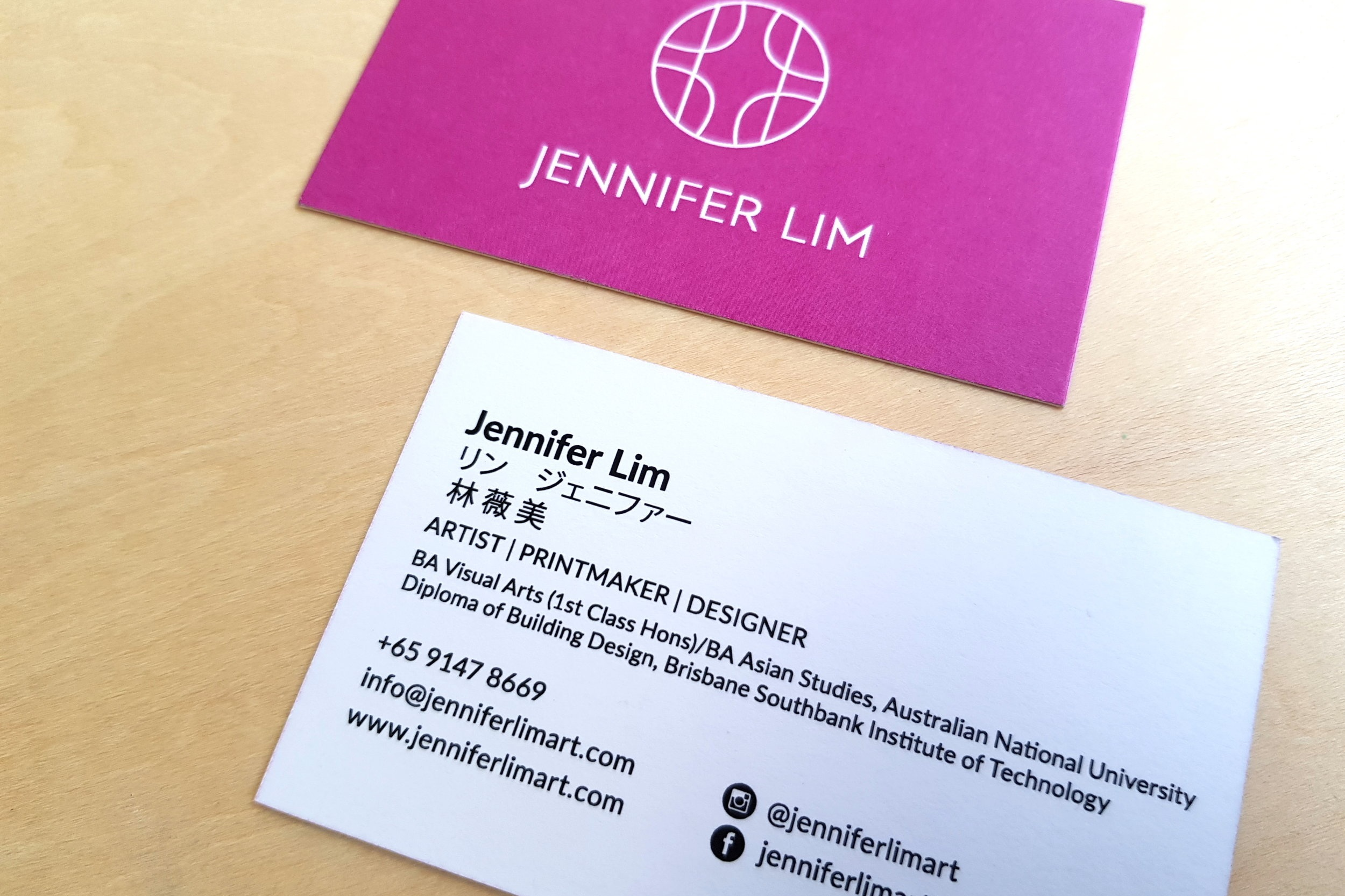 My trilingual business card…it sometimes become a great way to start a conversation!