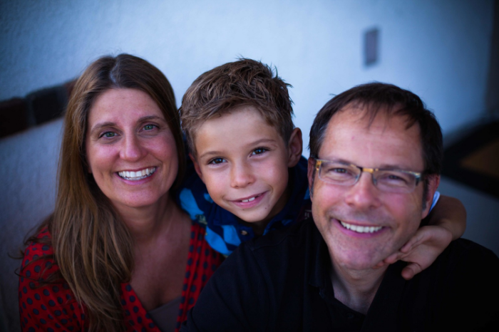Pastor Brian with his wife Julie and their son Simeon.