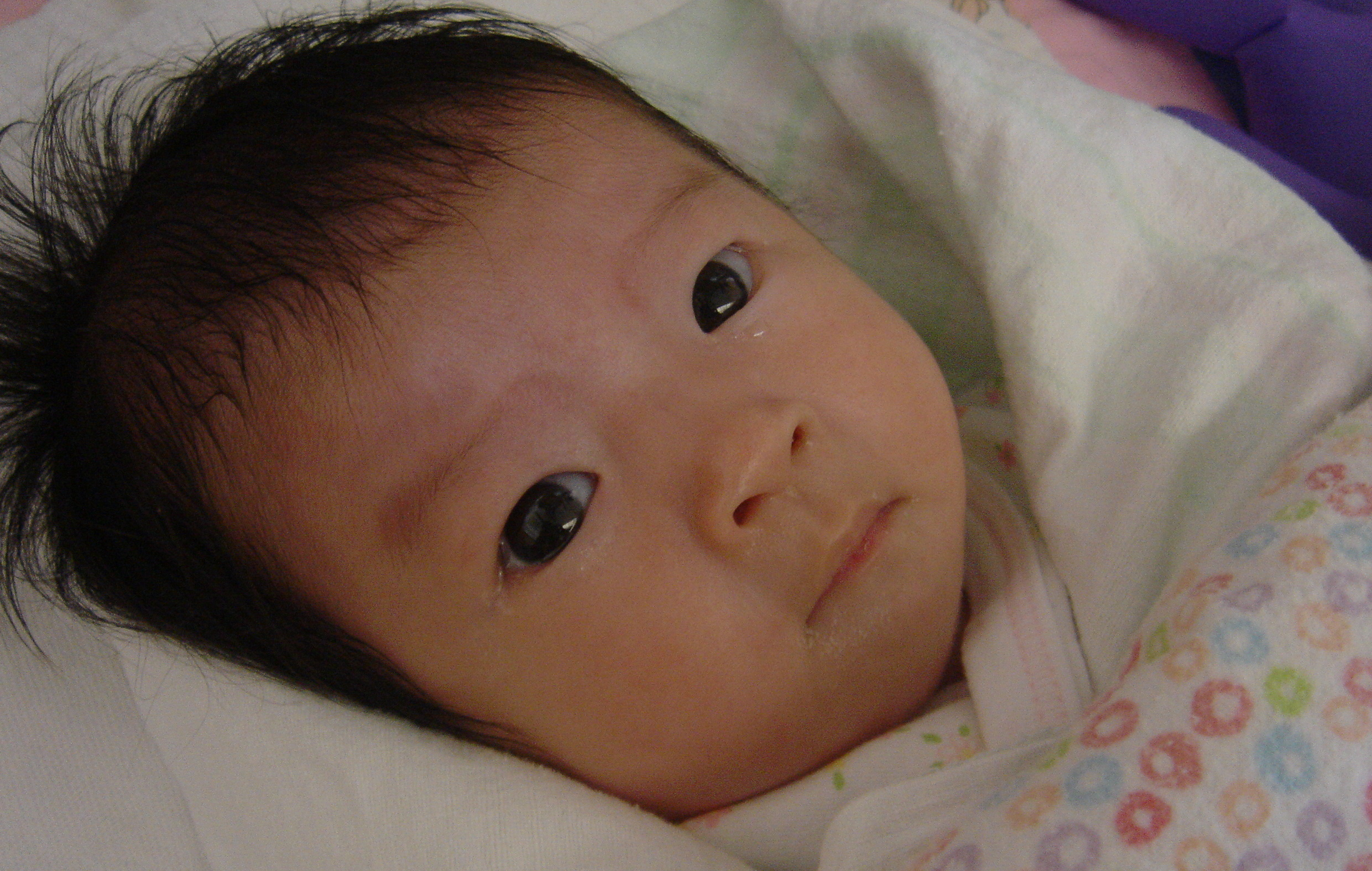 Thanks to the extraordinary care provided by the doctors and nurses in the NICU, Harumi was breathing completely on her own at 3 weeks of age.
