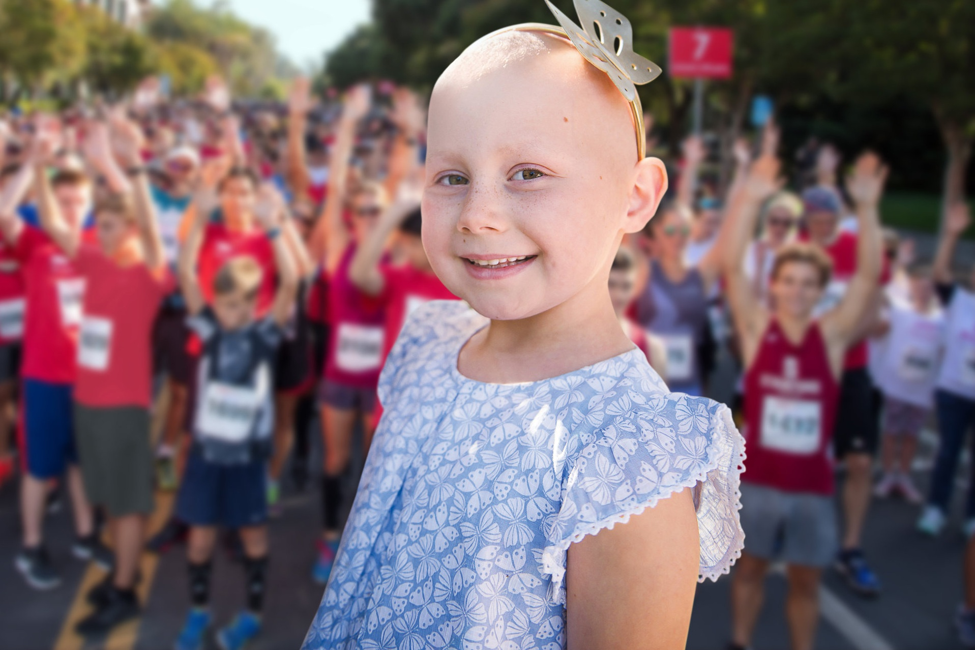 Claire, 7, Cancer patient
