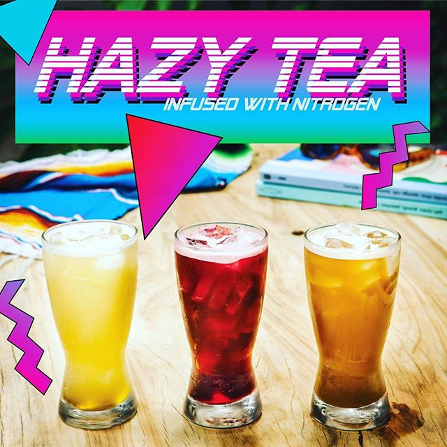 We are pleased to introduce @sunset.gather tonight HAZY TEA. A range of nitro infused ice teas. Let the heat of the day subside tonight with either an iced nitro tea or one of our iced coffees. On the menu are an Japanese organic green Shincha with a hint of ginger and an organic hibiscus 🌺 be the first to try hazy nitro tea #nitroicetea #hazytea #coldbrewcoffee