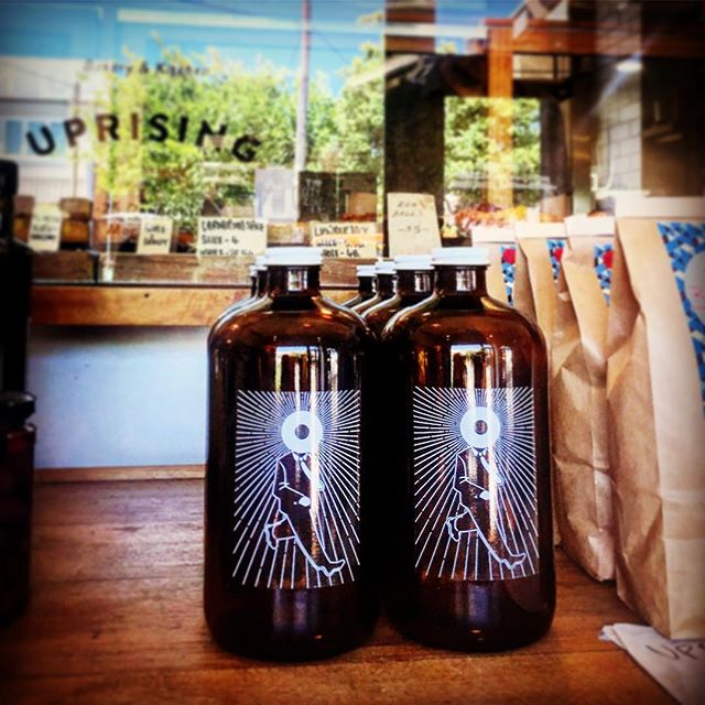 On tap for swap and go growlers, nitro, iced coffee. Rise & Shine @bakeduprising #coldbrewcoffee #riseandshine #bakeduprising #sourdough #riseandbake