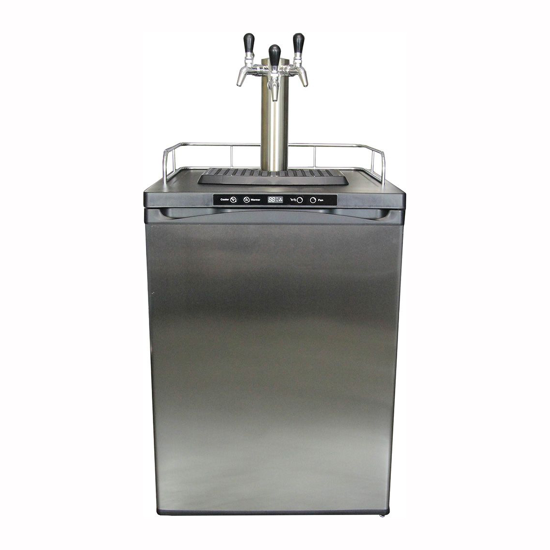 Kegmaster Series 4 - Dimensions: (W*D*H) 600 x 610 x 840 (mm)(excluding castor wheels and the height of guard rail, drip tray or font)holding capacity: 3 x 19.5 litre kegs or 1 x 50 litre keg$450 ex gst for complete setup with standard font tower pictured or/$5 ex gst per week rental billed monthly