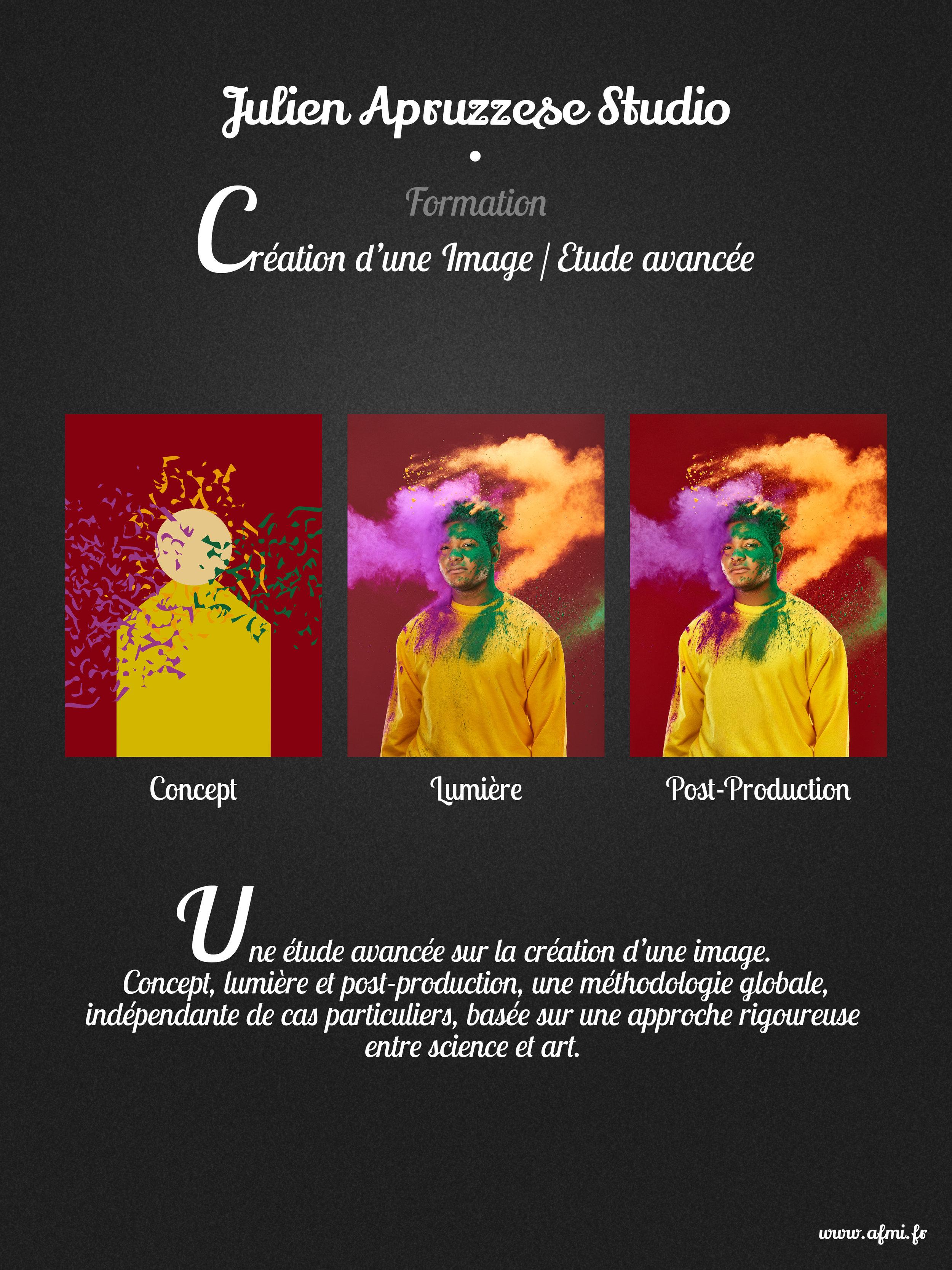 Création d'une Image / Etude Avancée - Du lundi 23 au mercredi 25 septembre 2019 à Montreuil 93100.