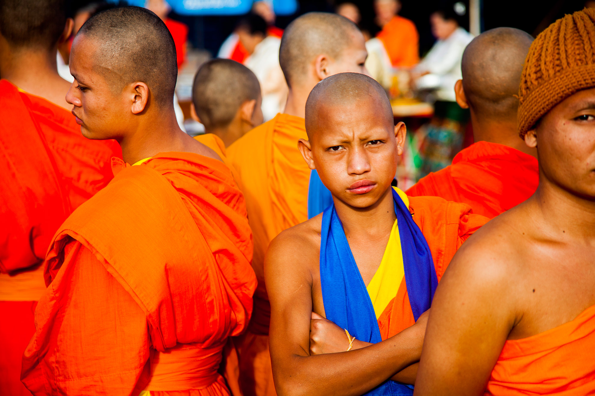 Monk at That Luang Festival