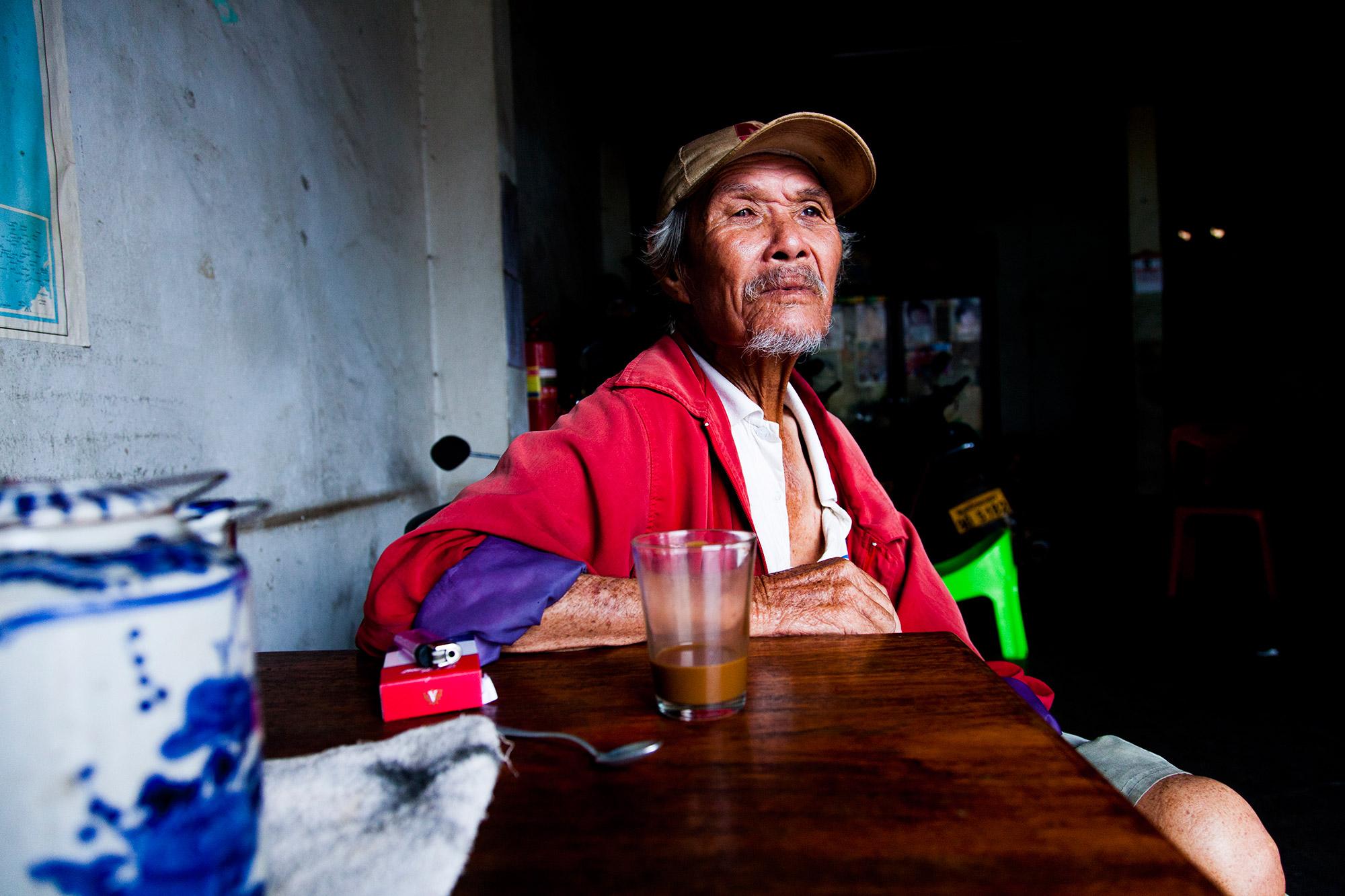 Man in Savannakhet Coffee Shop