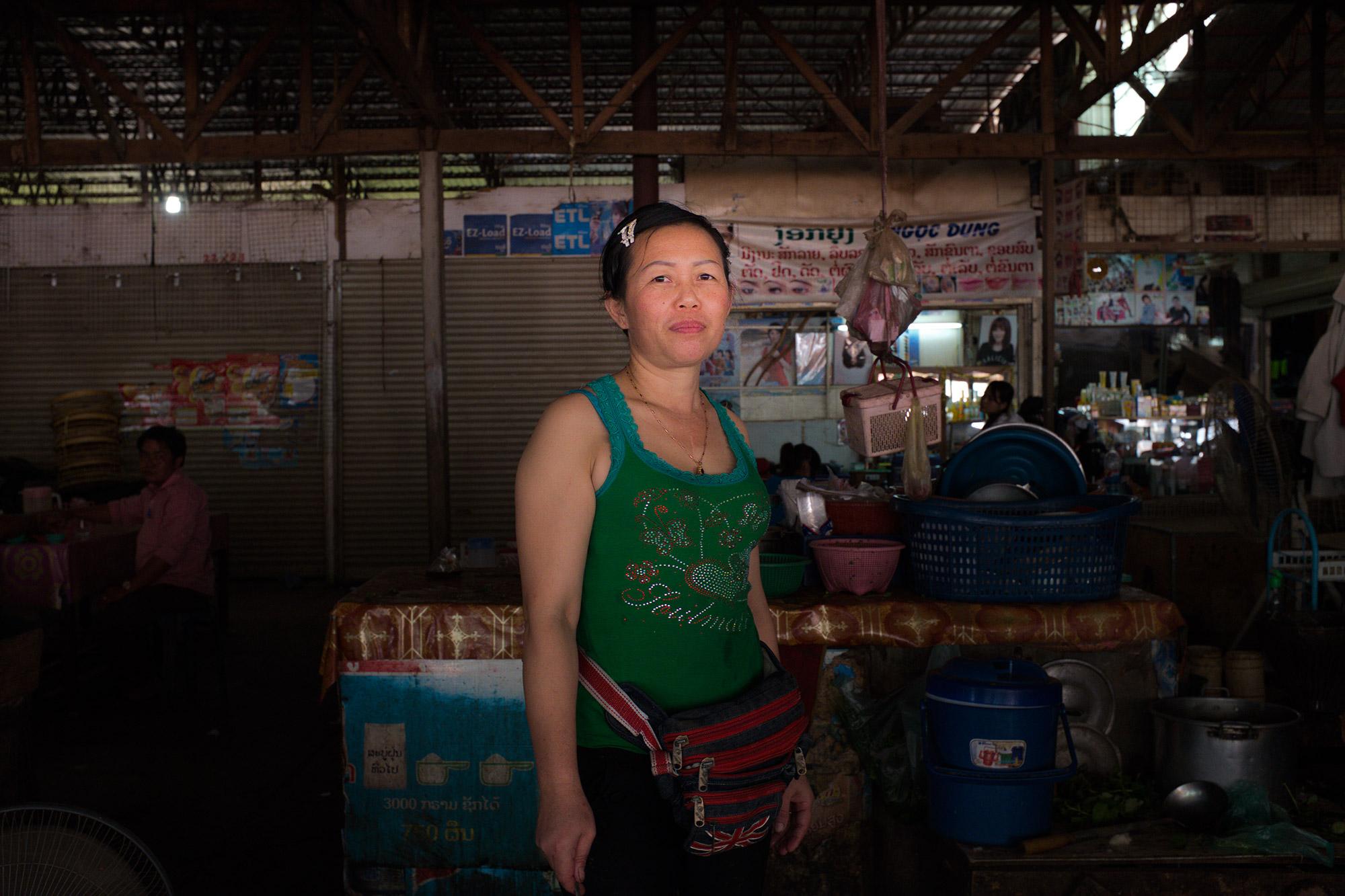 Woman at morning market